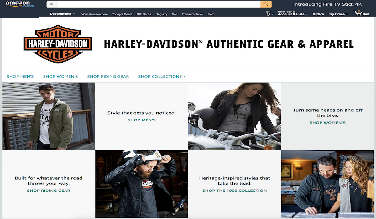 Harley-Davidson Teams Up With Amazon To Open Storefront