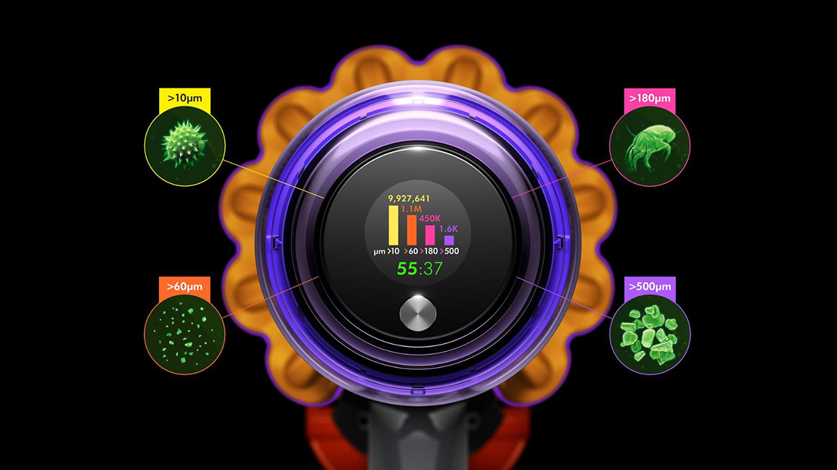 Dyson V15 detects dirt with lasers